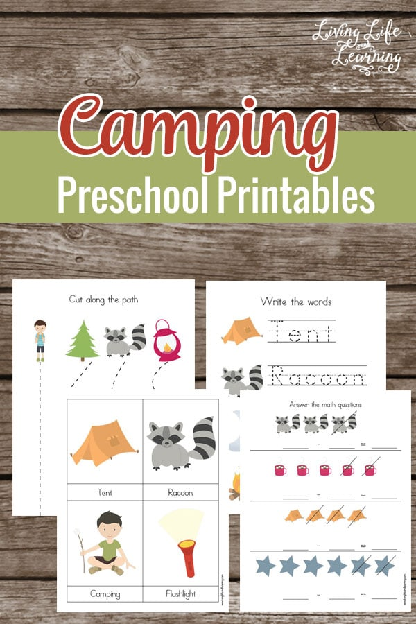 Bring the fun of camping in your school day with these fun camping preschool printables