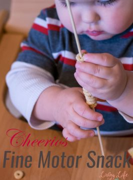 Cheerios Fine Motor Snack for Toddlers