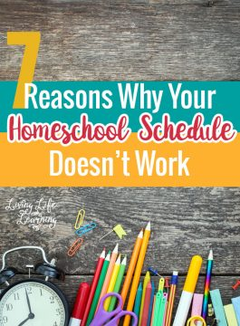 7 Reasons Why Your Homeschool Schedule Doesn't Work