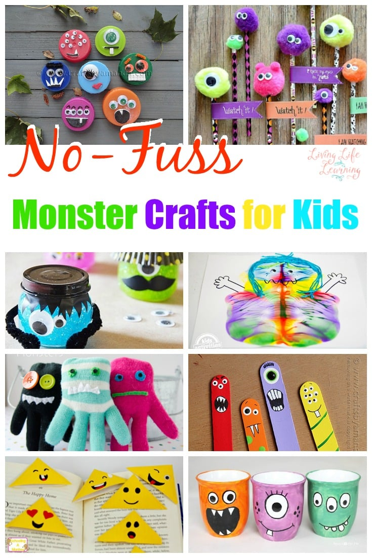 12 No-Fuss Monster Crafts for Kids They'll Love Any Time of Year