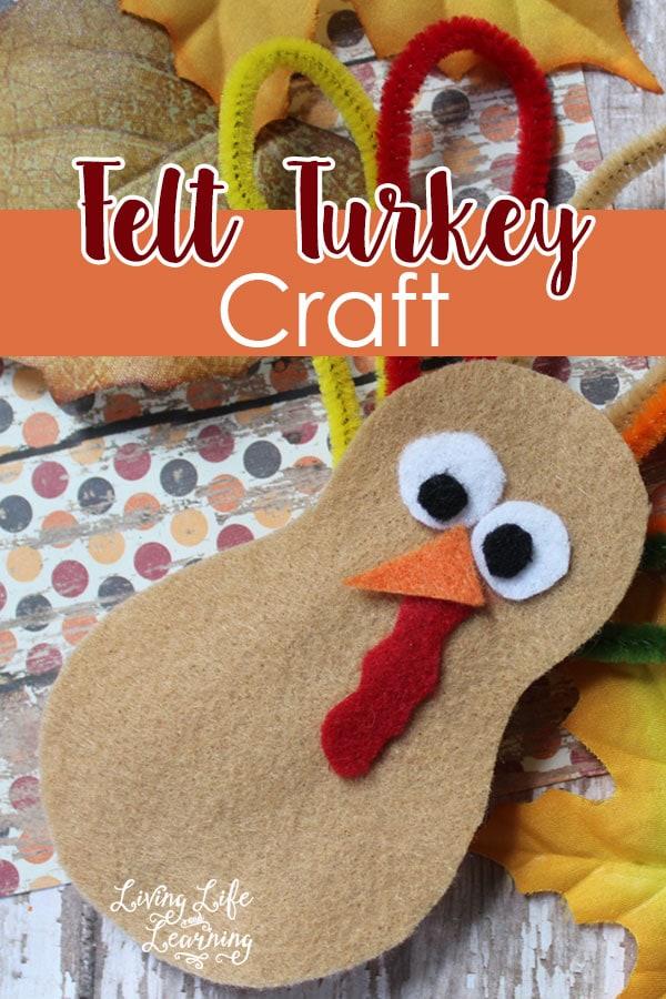 Felt Turkey Craft for Kids