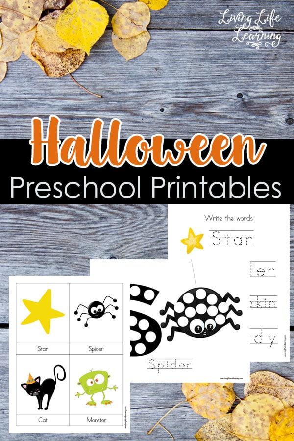 Halloween Preschool Printables