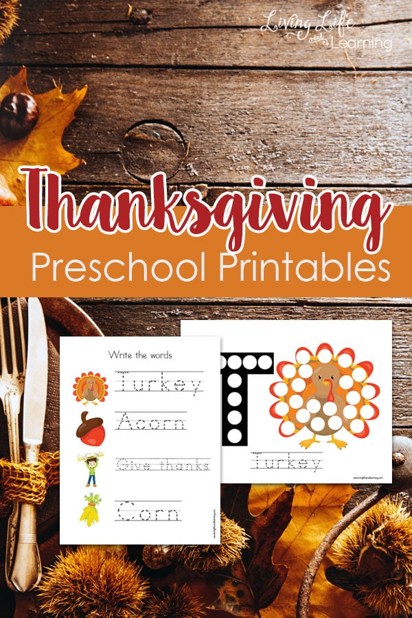 Thanksgiving Preschool Printables