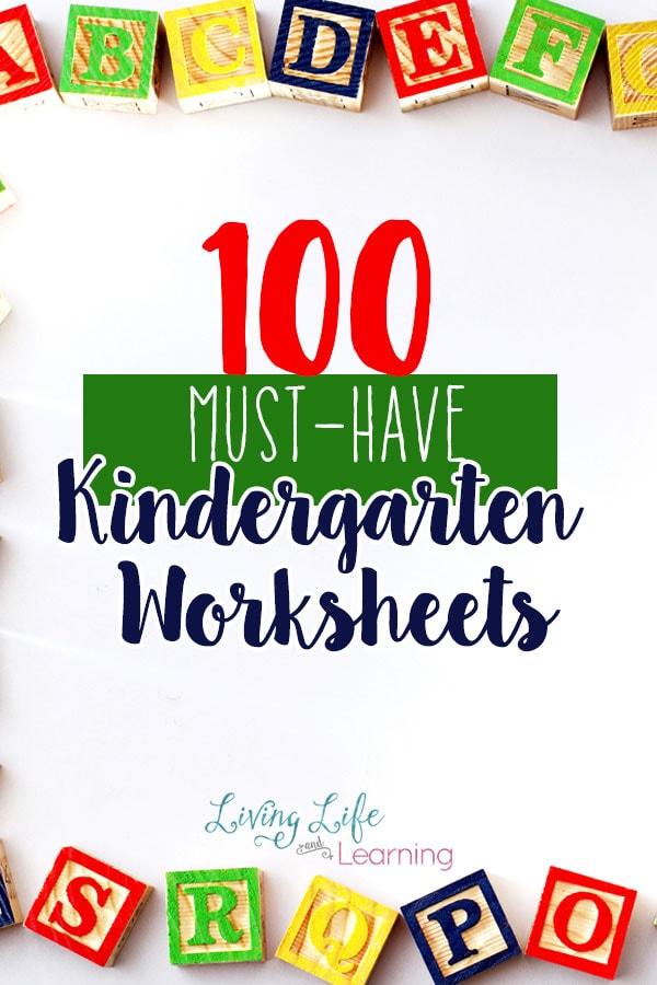 100 MustHave Kindergarten Worksheets and Printables – Homeschool Kindergarten Worksheets