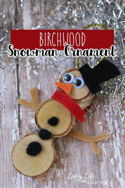 Birchwood Snowman Ornament Craft