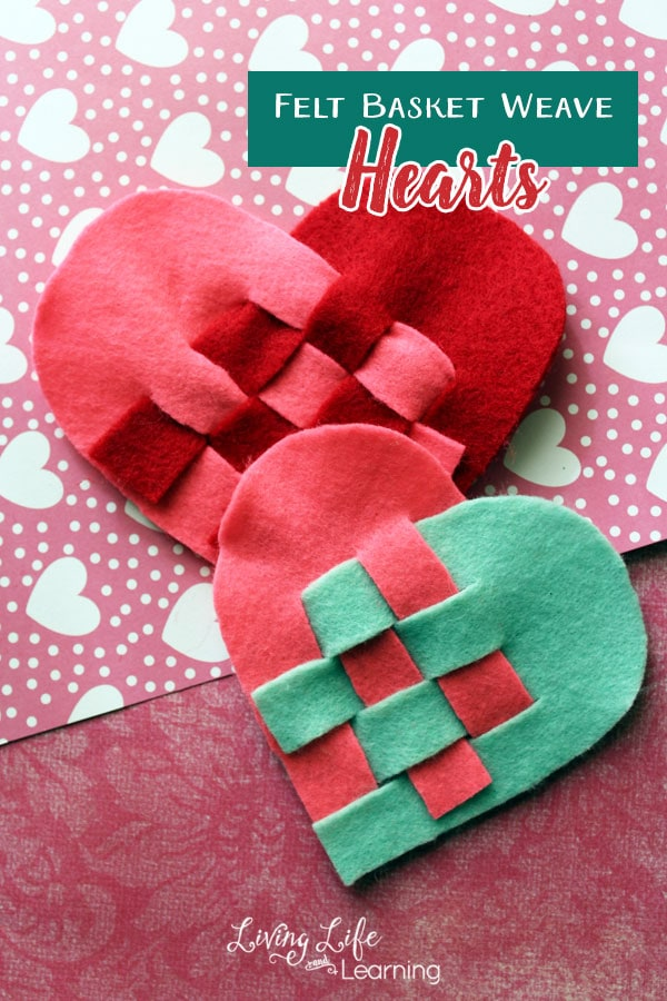 Felt Basket Weave Heart Craft
