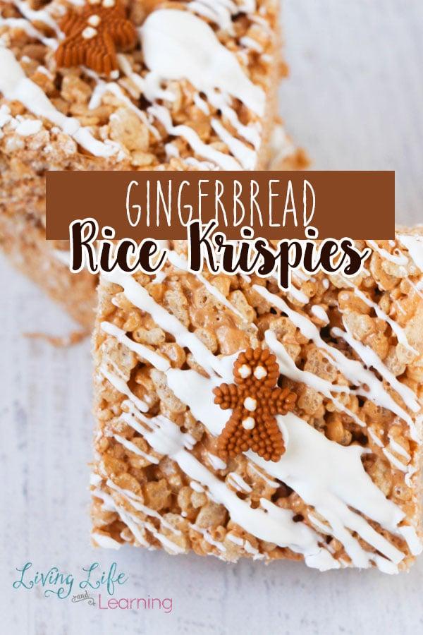 Gingerbread Rice Krispies Treats Recipe