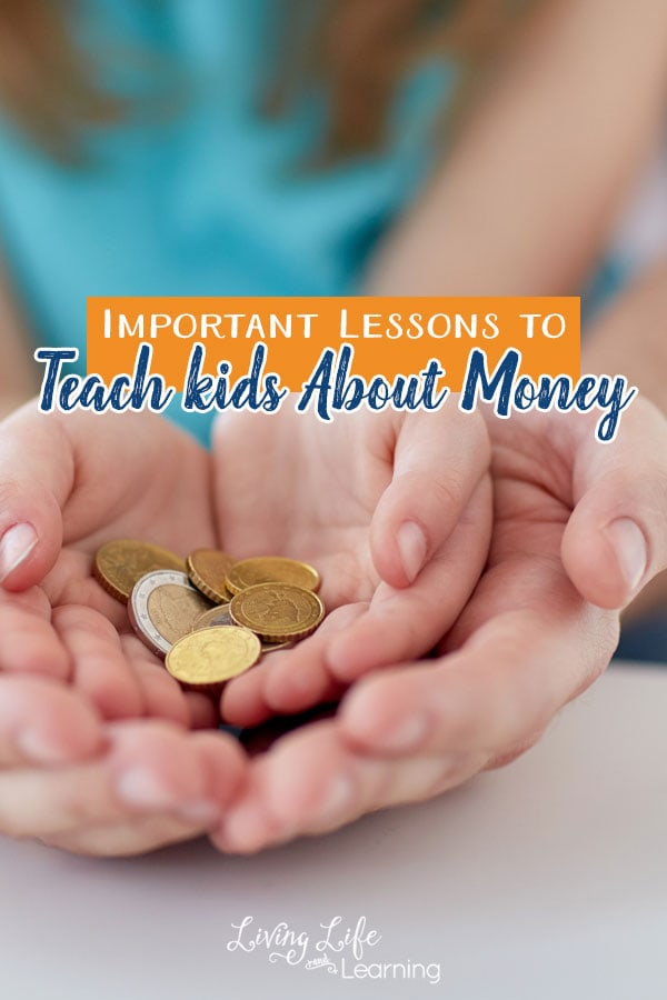 Some important lessons to teach kids about money are earning money, understanding where money comes from and how hard people have to work for it.