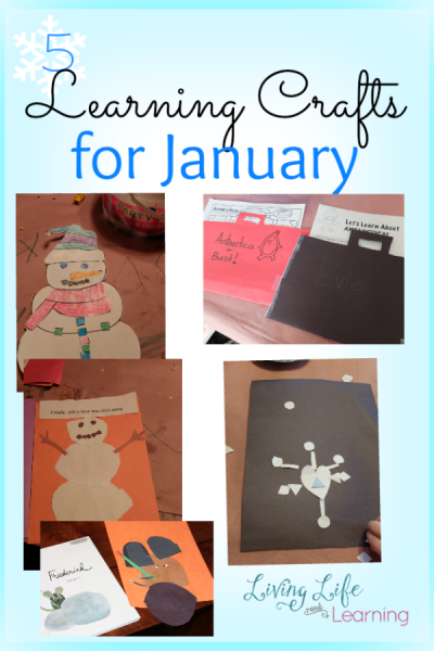 5 Learning Crafts for January