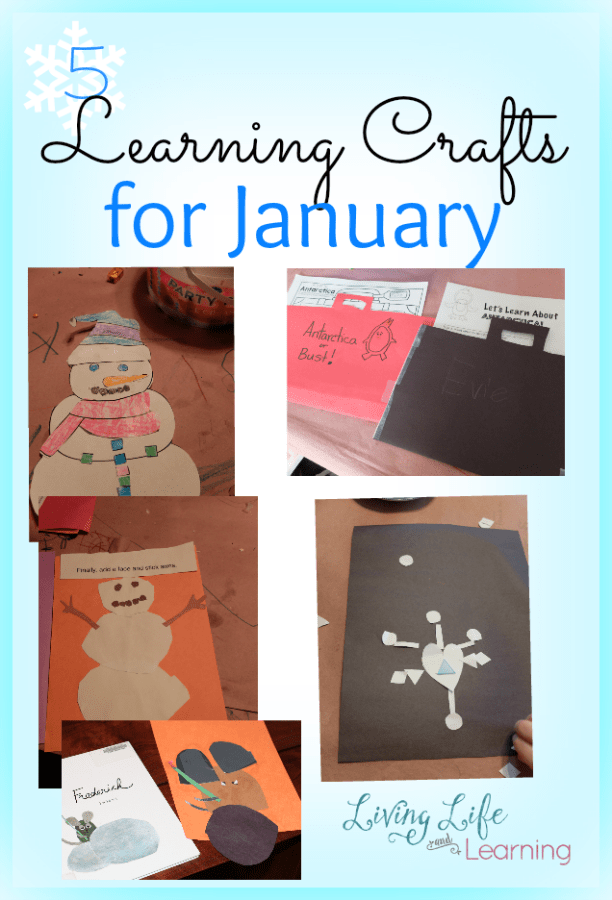 5 Learning Crafts for Winter - need ideas to attack the winter blues? These fun crafts will bring sunshine into your craft room.