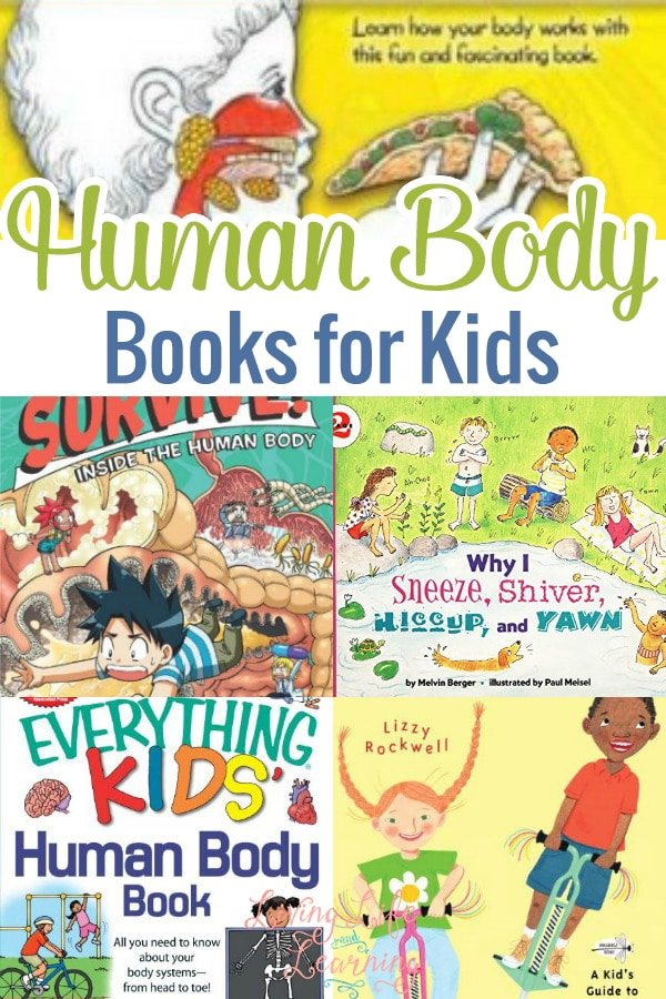 In this post, you will see a great list of human body books for kids who love books, who love learning about the human body or that need to get into reading (because these are just so much fun and so interesting)!