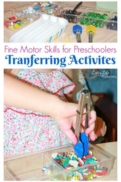 Fine Motor Skills: Tranferring Activities