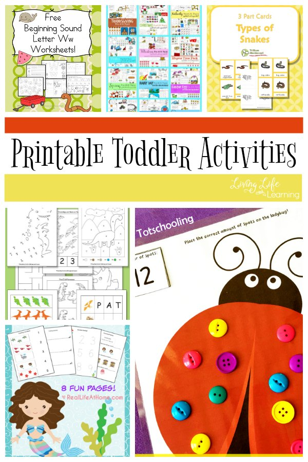 It is hard to keep those active toddlers at times. Their energy is insatiable! But that doesn't meant that we can channel that energy toward something educational. In this post, we will share a fun list of Printable Toddler Activities that they will love!