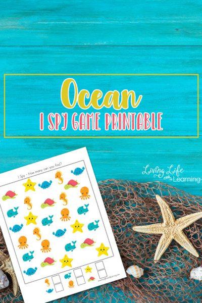 Ocean I Spy Game Printable
