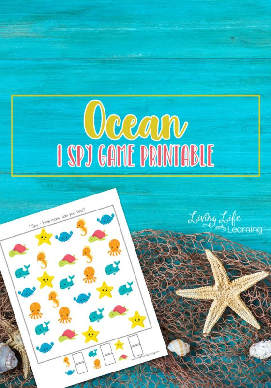 Get counting up to 10 with these adorable Ocean I Spy game printable meant to capture student's attention and making counting fun.
