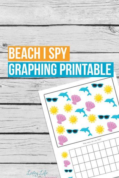 Beach I Spy Graphing Printable