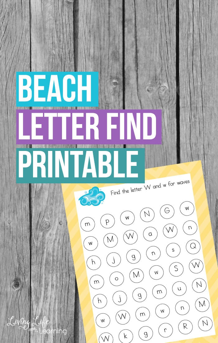 Don't let summer slide happen, use this beach letter find printable to match upper and lowercase letters in a fun beach theme. Learning can be fun.