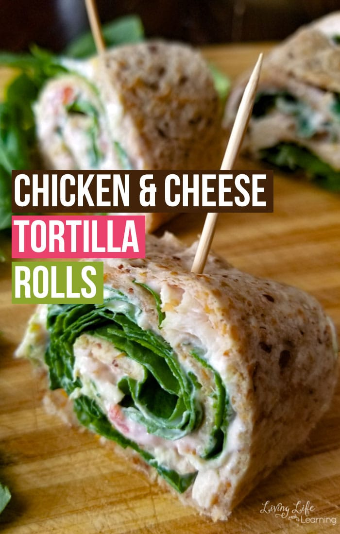 Easy Chicken and Cheese Tortilla rolls - a kid-approved lunch your whole family can enjoy, it's so easy to make with only a few ingredients with a huge flavor explosion in your mouth.