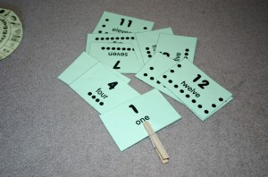 clothes pin cards