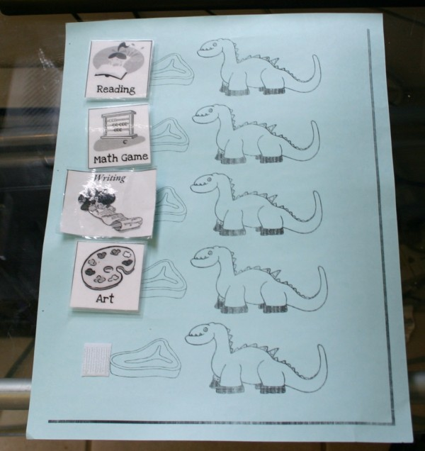 fun dinsaur kindergarten homeschool schedule