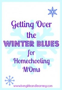 getting over the winter blues for homeschooling mothers