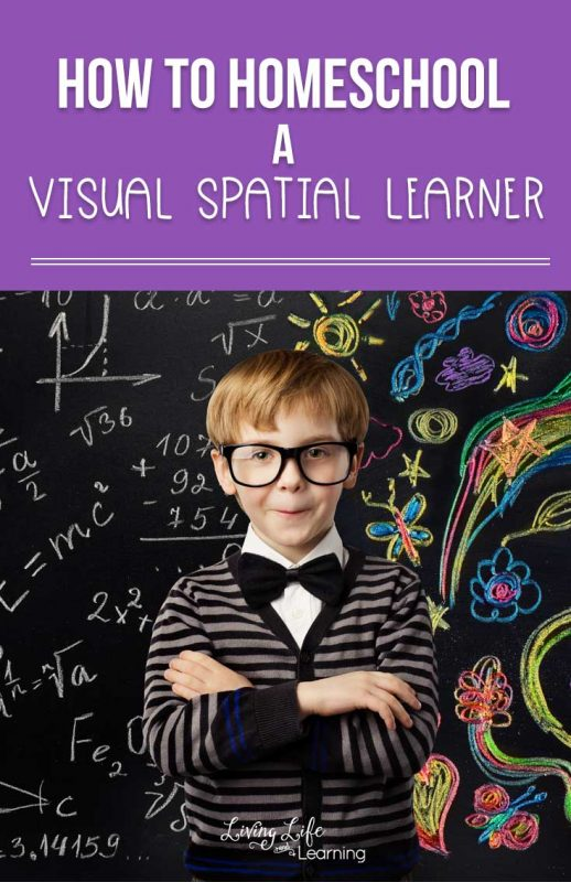 Tips and tricks on how to homeschool a Visual Spatial Learner, if you're not familiar with their learning style it can be a challenge, see what helps.