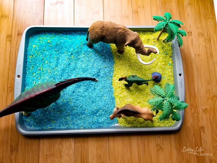 Prehistoric Animals Sensory Tray
