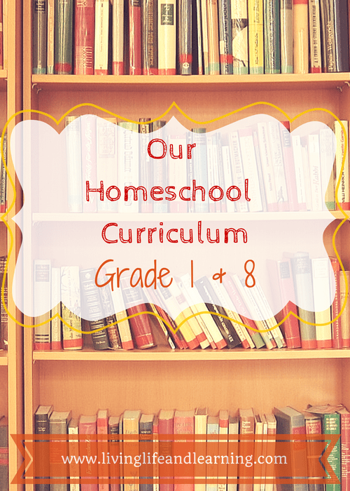 Our Homeschool Curriculum – Grade 8 and Grade 1