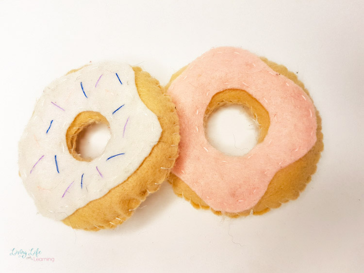 Felt food craft donuts
