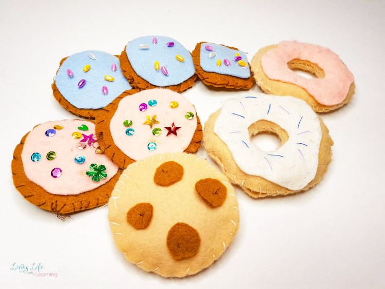 Felt food craft cookies and donuts