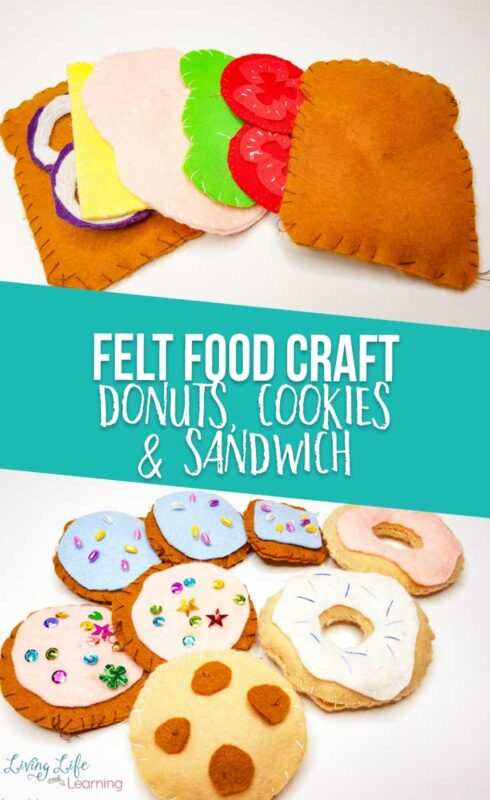 Felt Food Crafts: donuts, cookies and sandwich