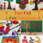 Frugal fun fall felt projects that you can make yourself that look great and make great activities