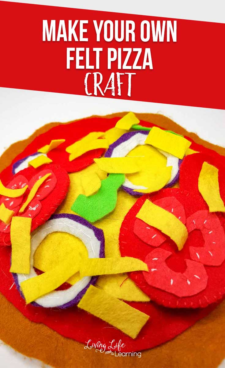 Make your own felt pizza craft