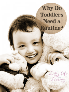 Make you and your toddler's life easier by creating a routine for them #homeschool #parenting