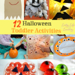 Fun Halloween toddler activities you have to try, my daughter had a great time stamping her own pumpkin, I love simple ideas that bring lots of fun.