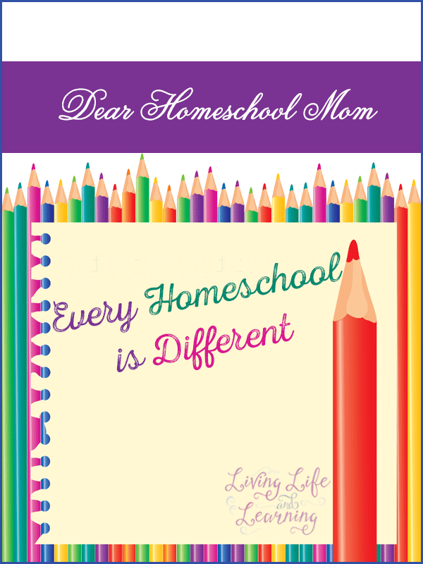 Don't worry about what others are doing in their homeschool
