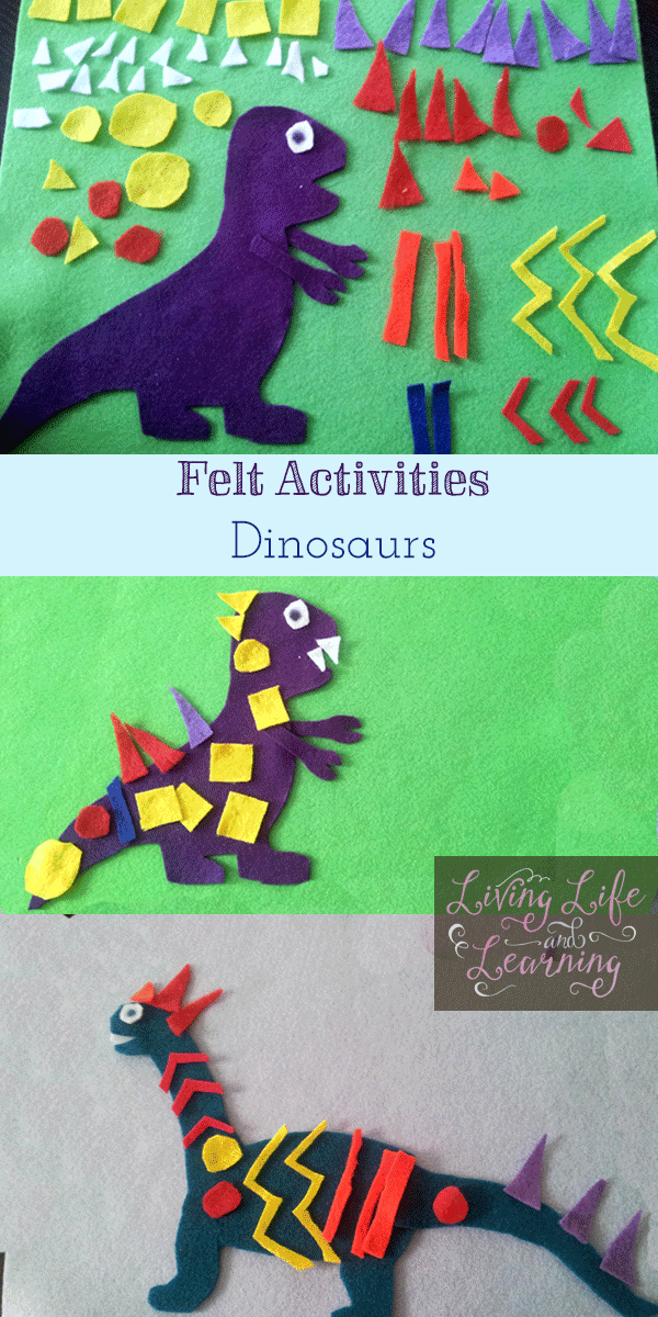fun and frugal felt dinosaurs that you can decorate any way you like