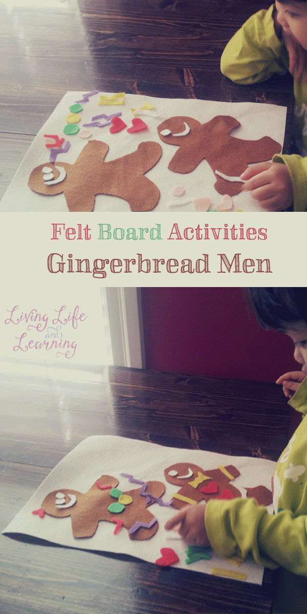 This felt gingerbread men craft is great quiet activity for your toddler or preschooler