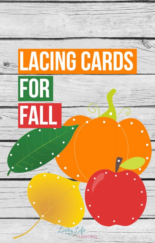 Have your child practice their fine motor skills with these fun printable lacing cards for fall and bring those beautiful fall colors into your school.