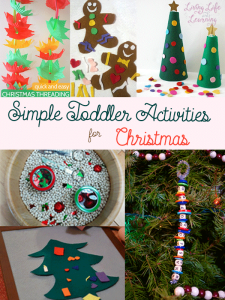 Must-try simple toddler activities for Christmas. Quiet Christmas activities to occupy your toddlers so you can get dinner ready.