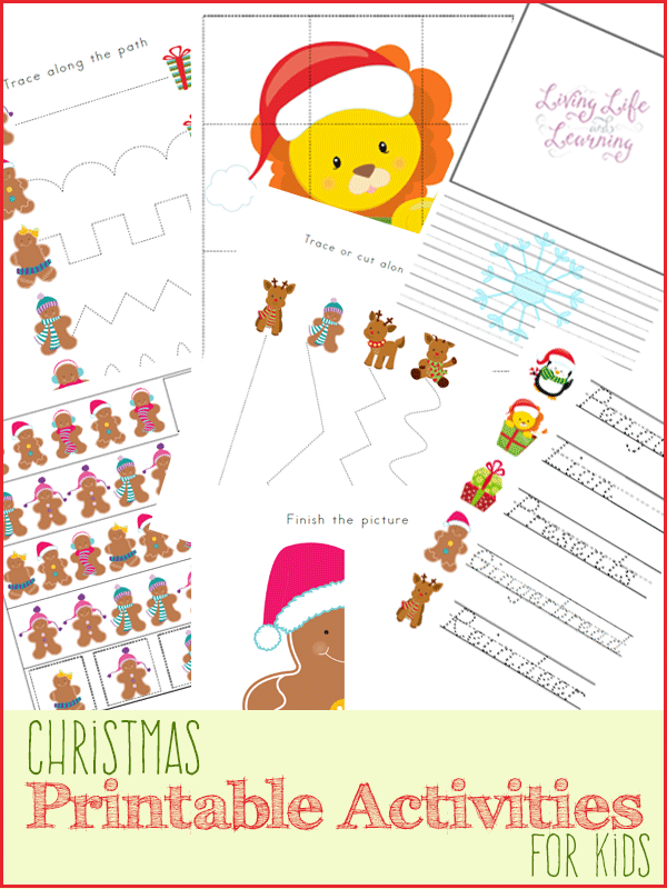 Love these fun printable learning activities for Christmas. Adorable Christmas printables for kids to engage your preschool or kindergarten students to trace, write and count in a fun Christmas theme. #Christmas #Printables #kids #homeschooling #homeschool