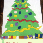 Want a quiet holiday activity for your toddler? This Felt Christmas Tree toddler activity is a blast as they decorate their own tree.