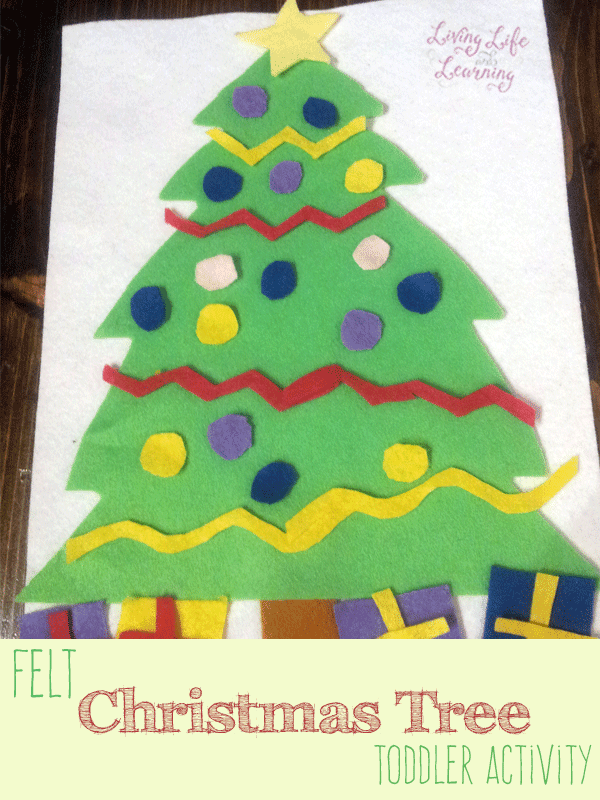 Your little one can decorate their own Christmas tree felt craft, a wonderfully quiet activity