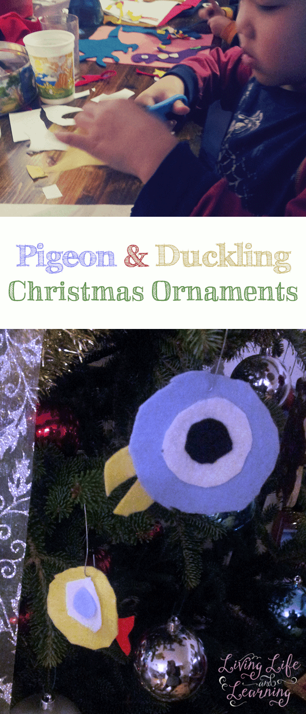 Make your own Pigeon and Duckling Christmas ornaments so they can spend Christmas with you