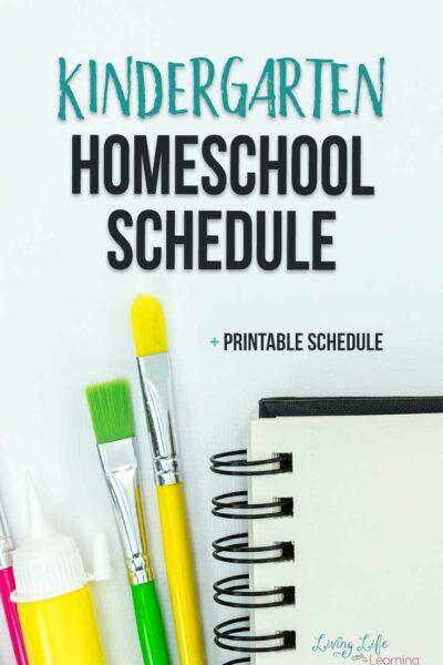 Kindergarten homeschool schedule