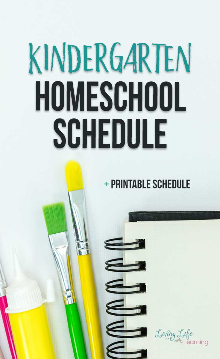 Kindergarten homeschool schedule