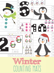 Fun winter counting mat for toddlers and preschoolers, get counting with these fun winter counting printables and have fun with numbers.
