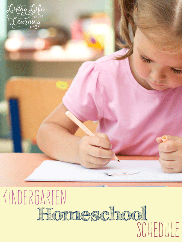 Our kindergarten homeschool schedule with a relaxed approach to homeschooling including free printable schedule