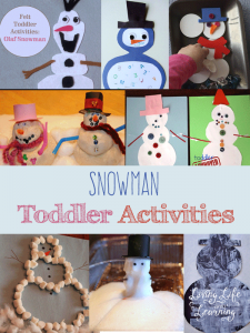 Fun and Frugal Snowman Toddler Activities for your little one, build your own snowman while you stay warm inside with these fun craft ideas.