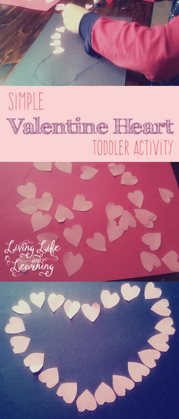 Simple Valentine Heart Toddler Activity